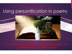 English- Using personification in poetry