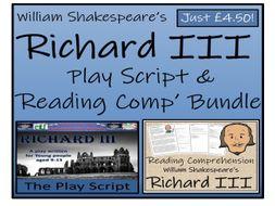UKS2 Literacy - William Shakespeare's Richard III - Play Script & Reading Comprehension Bundle