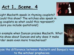 Scheme based on Shakespeare's 'Macbeth'