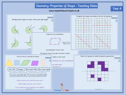 year 4 geometry properties of shape fluency teaching slides