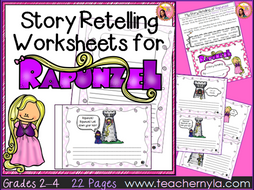 Rapunzel - Fairy Tale Retelling Worksheets