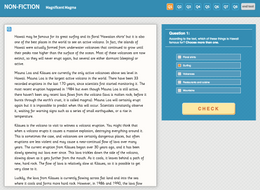 Magnificent Magma - Interactive Exercise - Year 5 Reading Comprehension (Non-fiction)