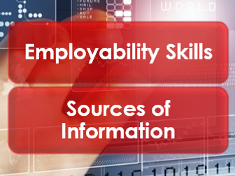 Employability/Work Skills: Sources of Information