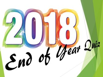 End of Year Christmas Quiz 2018