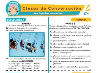 Memoria - Spanish Speaking Activity