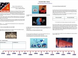 9-1 GCSE History - Cold War - The Berlin Wall- Supporting Worksheet for Ted Ed Video
