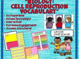 Google Drive Biology Cell Reproduction Interactive Notebook for Google Classroom