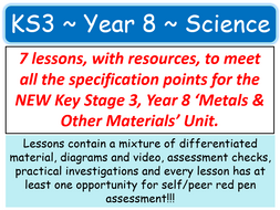 NEW KS3 ~ Year 8 ~ Metals & Other Materials