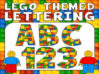 LEGO DISPLAY LETTERING TEACHING RESOURCES KS 1-2 EARLY YEARS TOYS LETTERS NUMBERS PUNCTUATION