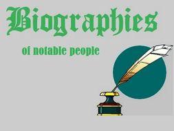 Biographies of Notable People - Reading Comprehension Worksheets Bundle (SAVE 85%)