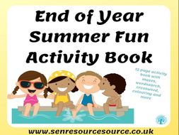 End of Year Summer Fun Activity Book