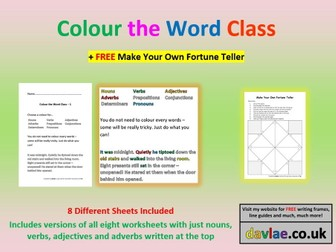 Colour the Word Class
