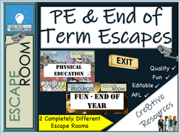 PE - End of Year Escape Rooms