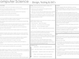 Computer Science - Design, Testing and IDE's