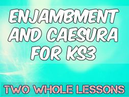 poetry enjambment and caesura for ks3 x2 lessons by expertenglish teaching resources. Black Bedroom Furniture Sets. Home Design Ideas