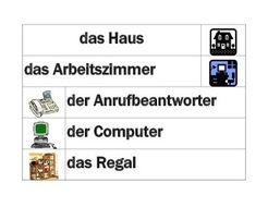 Haus (House in German) Word Wall