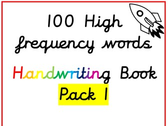 100 High Frequency Words - Handwriting Sheets