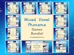 The Mixed Vowel Phoneme Games Bundle