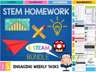 STEM HOMEWORK TASKS (15 DIGITAL TECHNOLOGIES, DESIGN & STEAM ACTIVITIES)