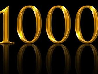 Number Bonds to 1000 Challenge