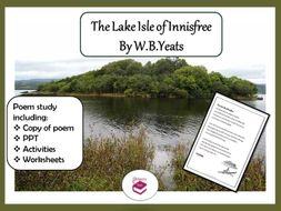 The Lake Isle of Innisfree: PPT, poem and worksheets