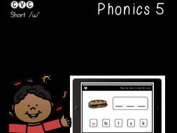 CVC Short U - Digital Center - Word Builder - Phonics (Google Classroom)
