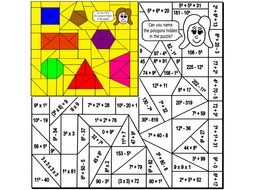 Square Numbers Colouring Puzzle by Arithmetints