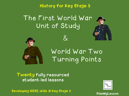 World War One and World War Two (2 complete units of work)