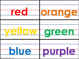Sentence Color Word Cards With Bonus Color Flashcards