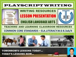 PLAYSCRIPT WRITING : PRESENTATION
