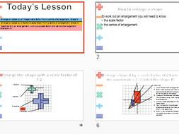 Enlargements lesson