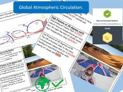 Global Atmospheric Circulation:  AQA GCSE 9-1 Worksheet.