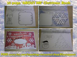 PSHE: Christmas 'ABOUT ME' Book -Social and Emotional Learning