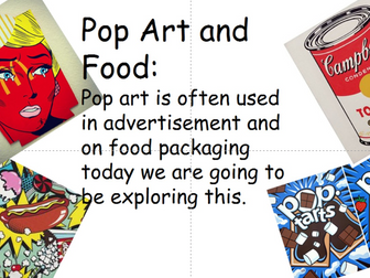 Pop art and Advertisment (Fun Lesson)