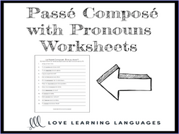 Passé Composé with Pronouns - Être ou Avoir - French grammar quiz or worksheet