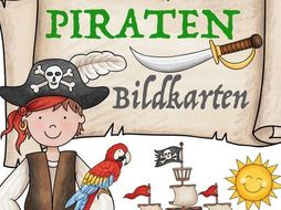 Deutsch: Piraten Bildkarten / flash cards German Märchen, Wortschatz - Kinder German