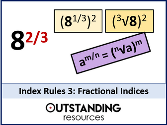 Index Rules 3 - Fractional Indices and Fractions with a Power (Index Laws)