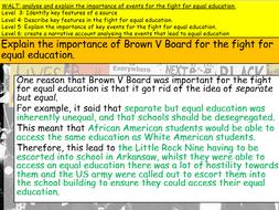 Civil Rights Movement: Education (KS3)