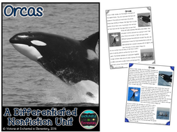 Differentiated Nonfiction Unit: Orcas