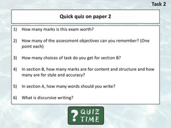 Cambridge IGCSE 0500 - Overview of Language Paper 2