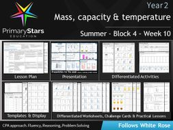 YEAR 2 - Mass , capacity , temperature - White Rose - WEEK 10 - Block 4 - Summer Differentiated Pack