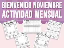 Bienvenido Noviembre - Actividad Mensual - SPANISH VERSION