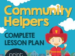 Community Helper Full Lesson Plan - PowerPoint, Worksheets, Games