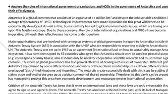 Global governance in Antarctica