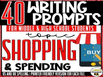 Daily Writing Prompts | Shopping | Middle and High School