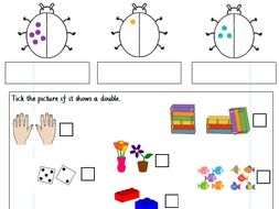 doubling numbers to 20 year 1 differentiated worksheets white rose by gibbonsjack teaching. Black Bedroom Furniture Sets. Home Design Ideas