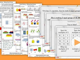 Year 1 Making Equal Groups Summer Block 1 Lesson Pack