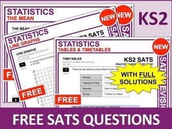 Maths SATs Bundle (Statistics)
