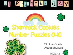 Shamrock Cookies Counting Number Puzzles 0-10