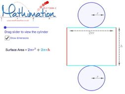 Cylinder Surface Area Visualisation